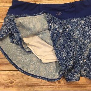 CALIA by Carrie Underwood Shorts - Calia Blue Journey Flutter Shorts, Size M